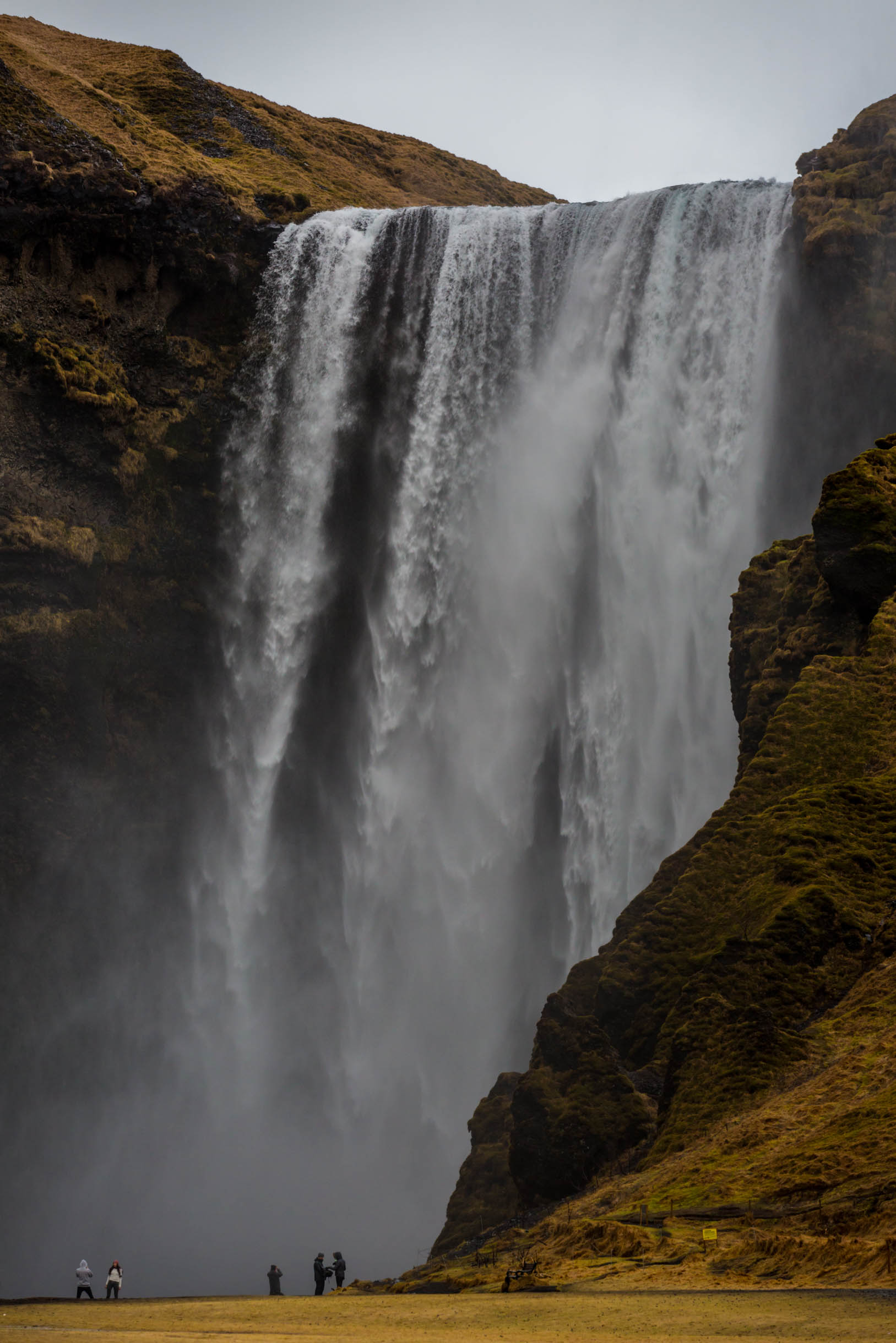 a picture of skogafoss waterfall while we were visiting Southern Iceland Waterfalls