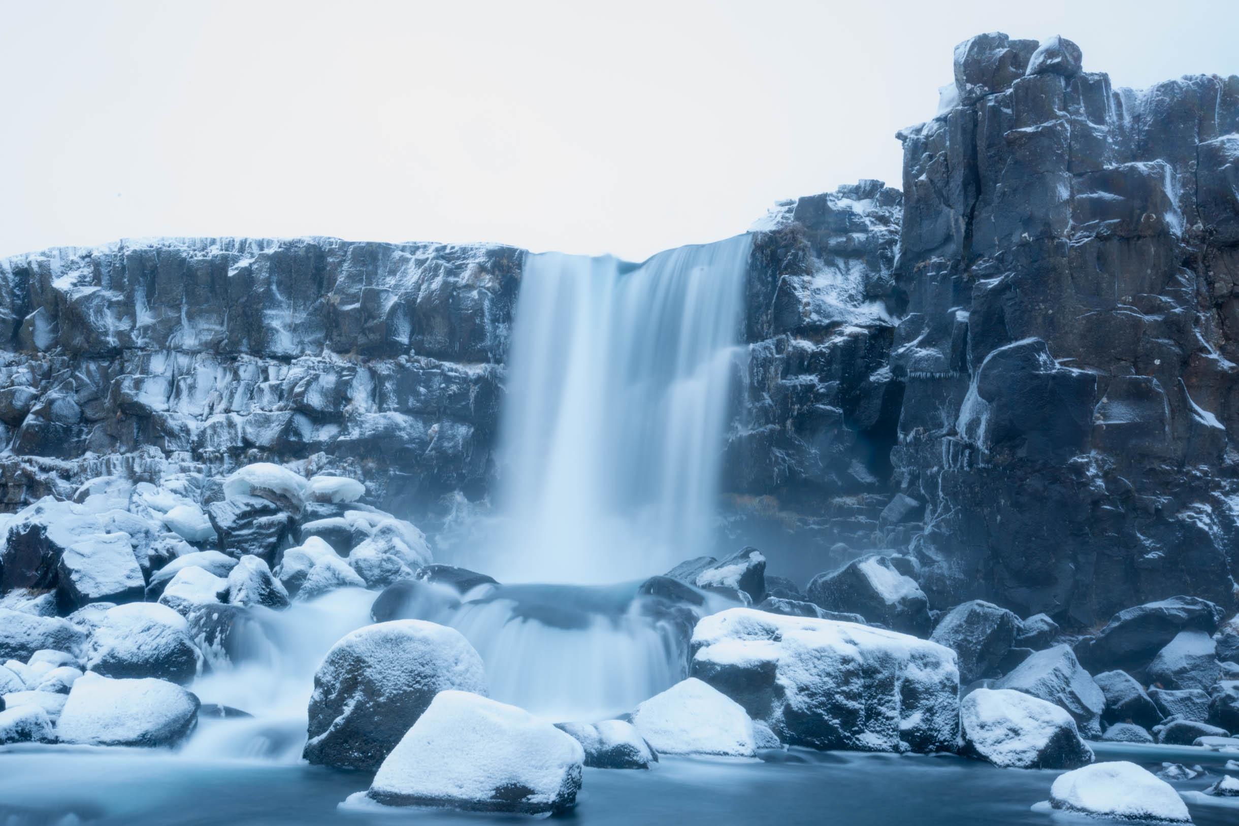 Thingvellir National Park waterfall oxarafoss