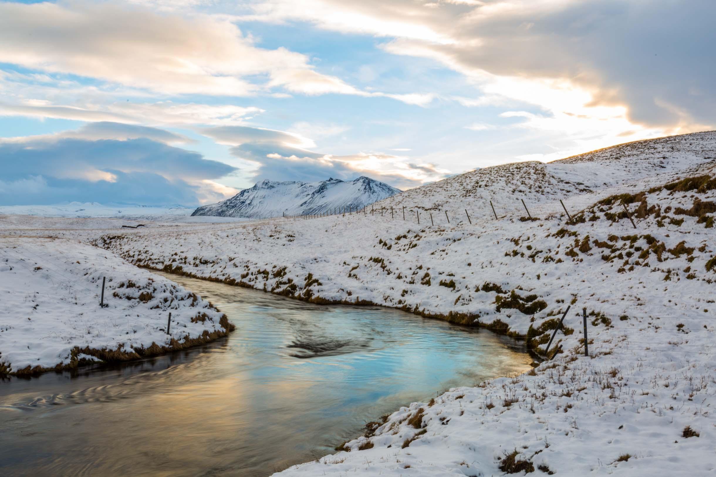 winter f road iceland