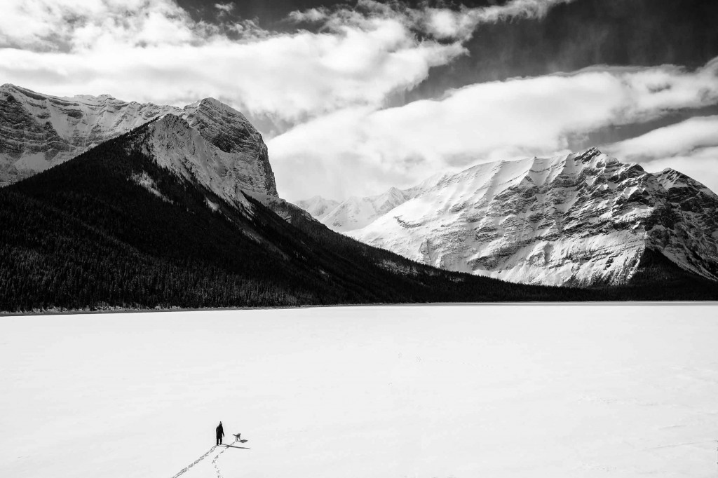 winter upper kananaskis lake