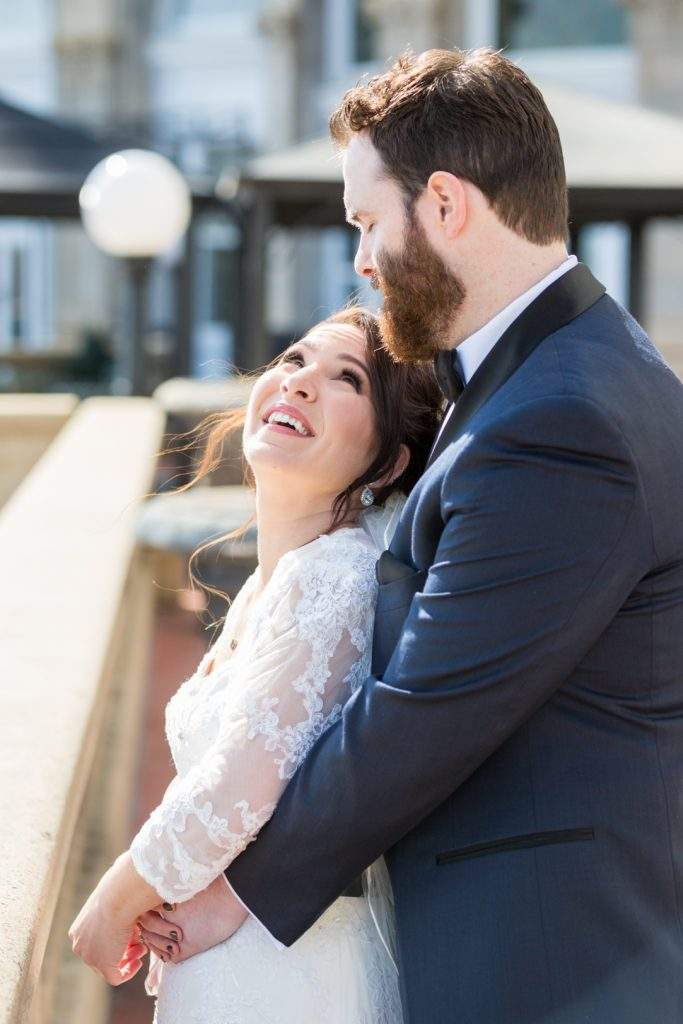 Outdoor wedding portraits hotel macdonald