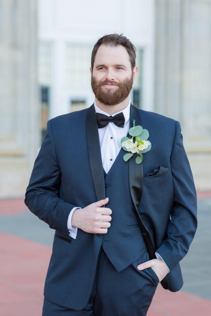 Wedding portrait of the groom