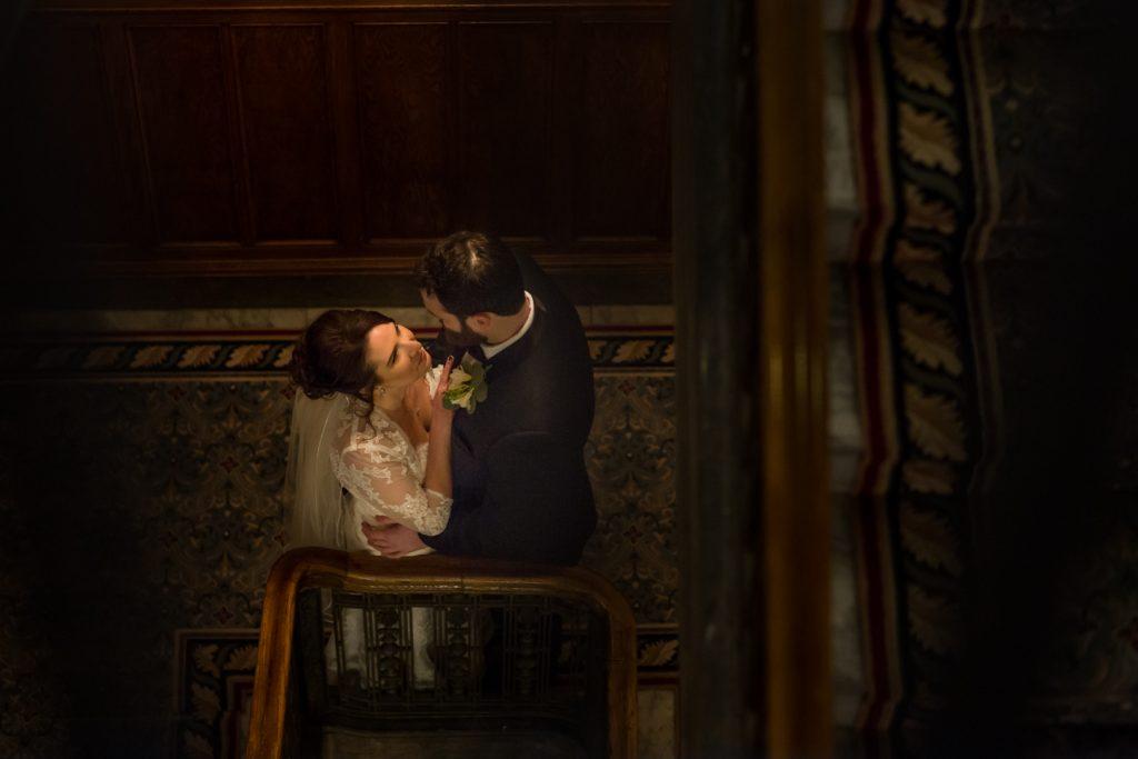 Wedding portraits inside the Fairmont Hotel Macdonald