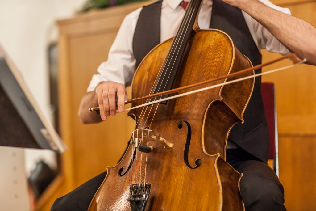Wedding ceremony cellist