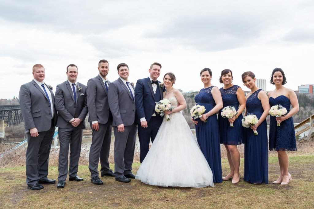 Outdoor wedding portraits in Edmonton