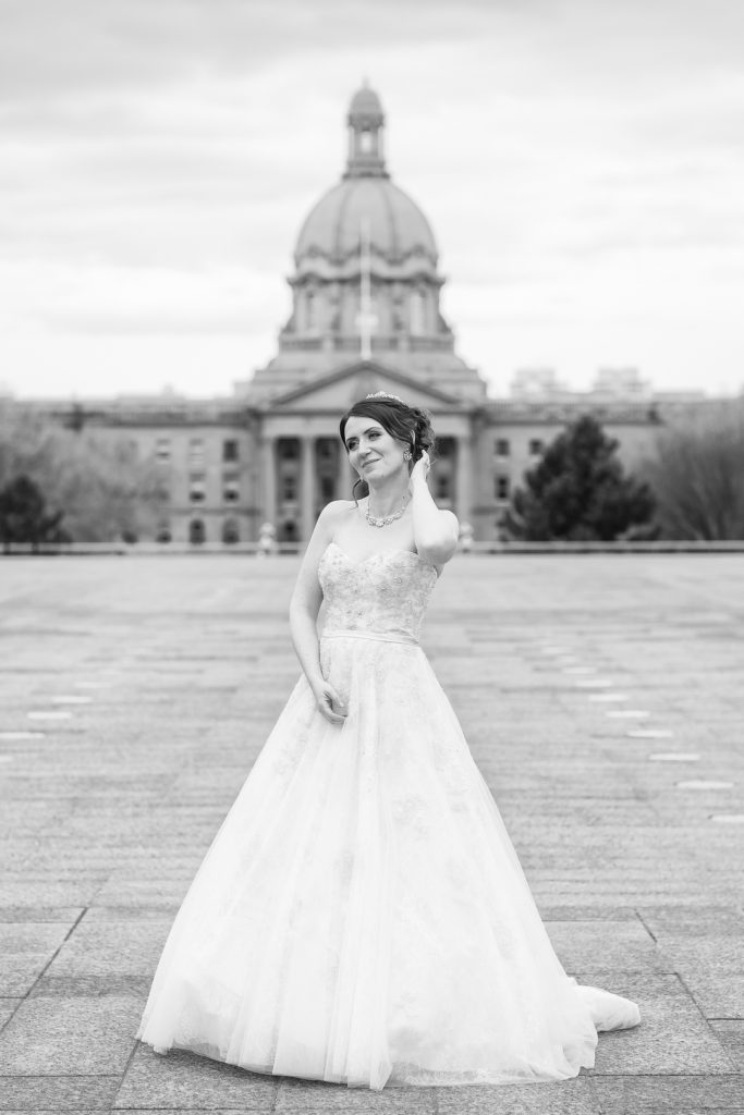 Bridal portrait at Legislature building