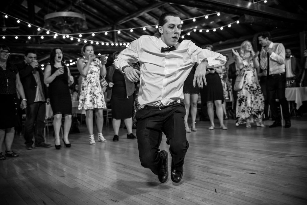 Old Timers Cabin wedding reception dance