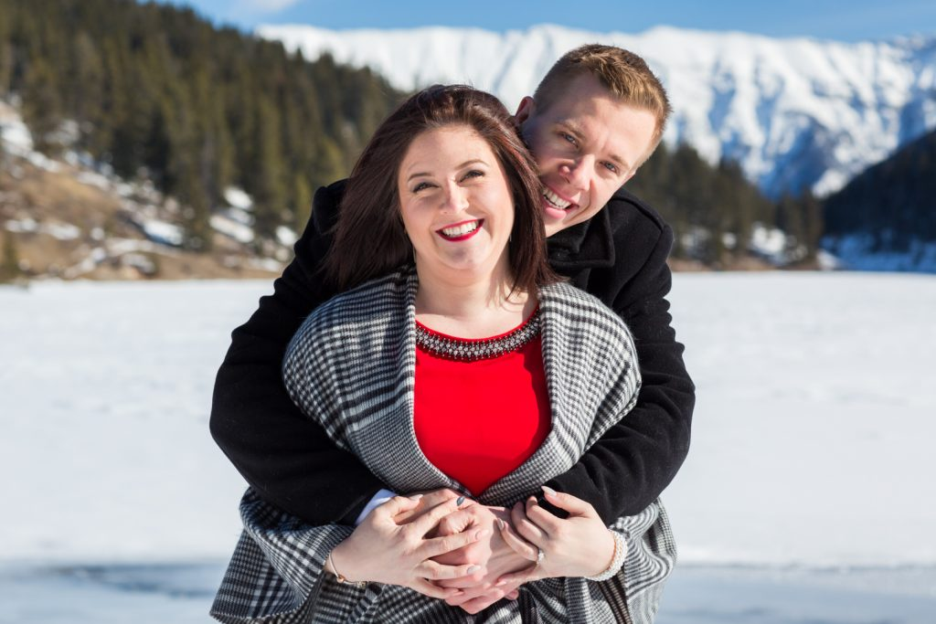 Winter Engagement Photos - Mountain Engagement Photography by Deep Blue Photography