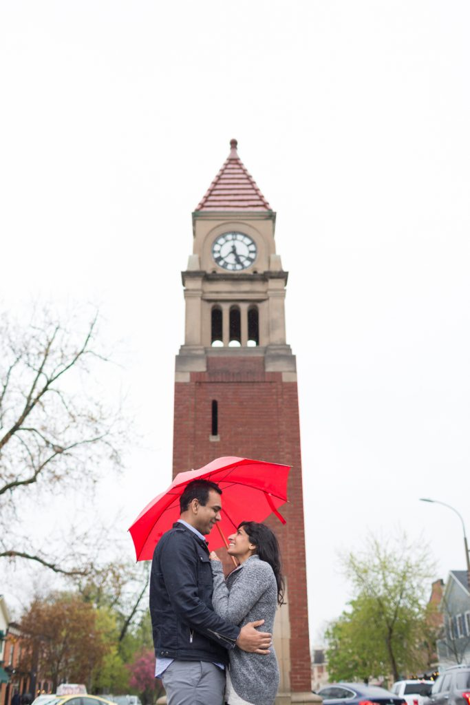 Clock tower engagement photos - Niagara on the Lake Engagement Photography