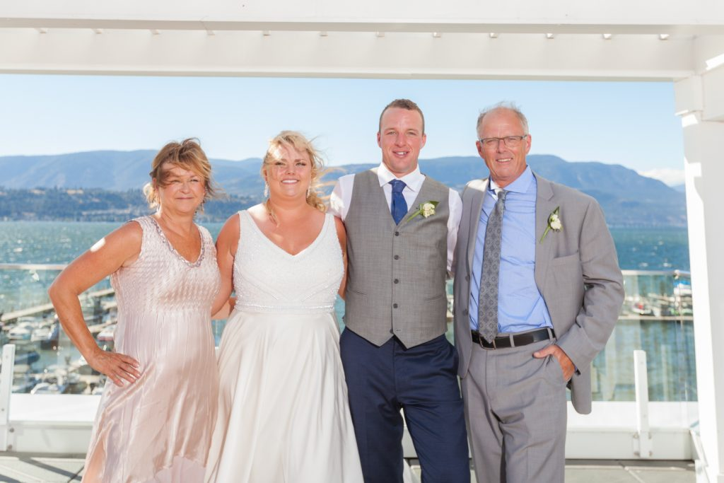 Brides family photo