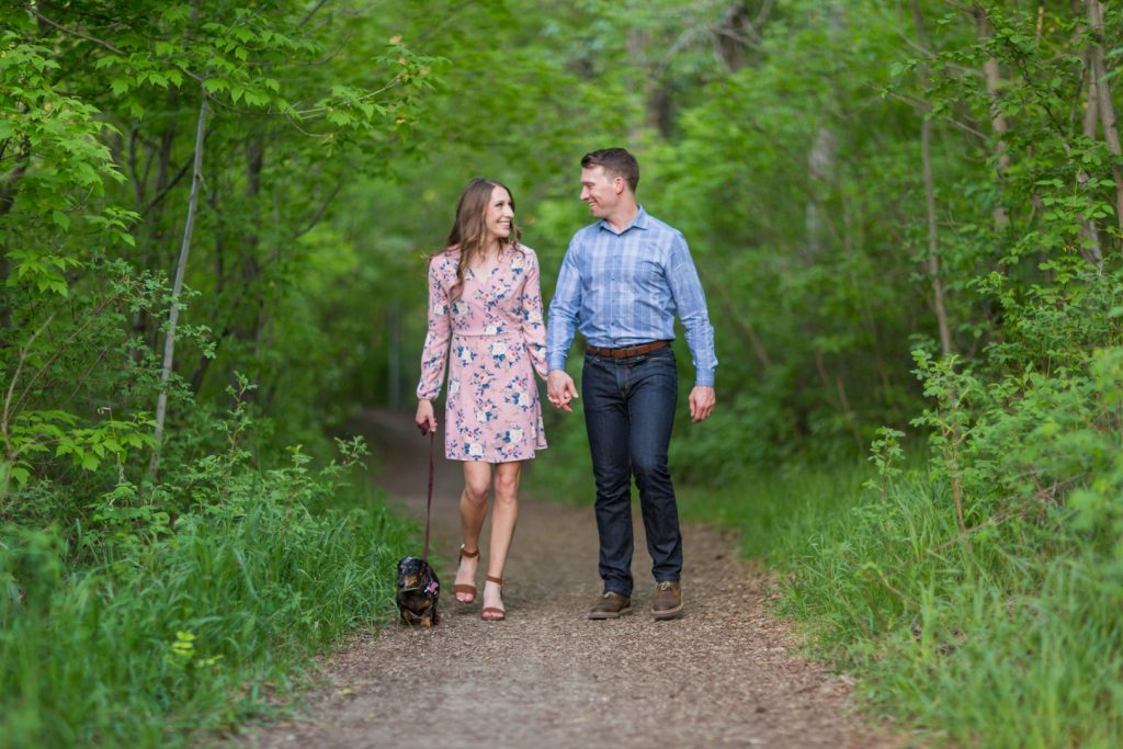 edmonton river valley engagement photos