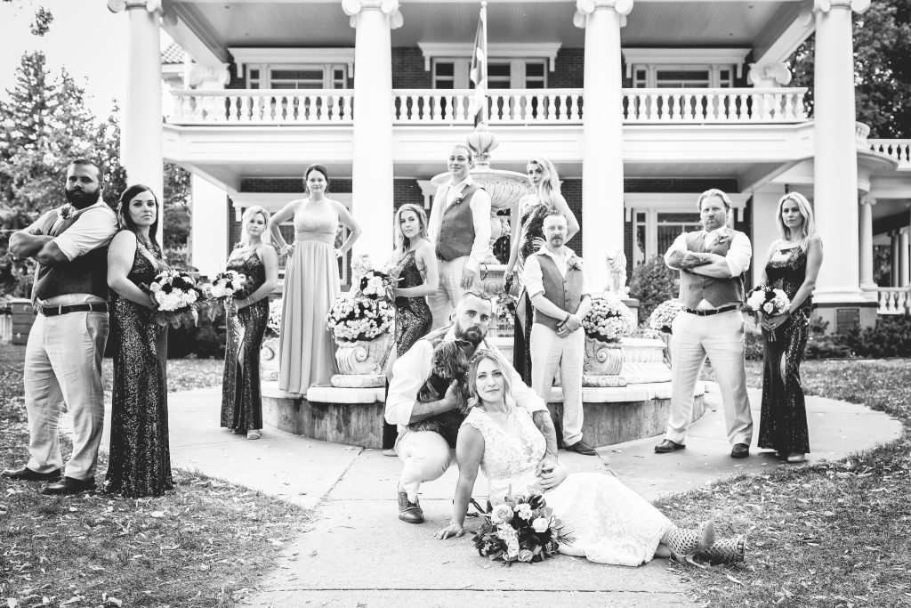 magrath mansion wedding party photos