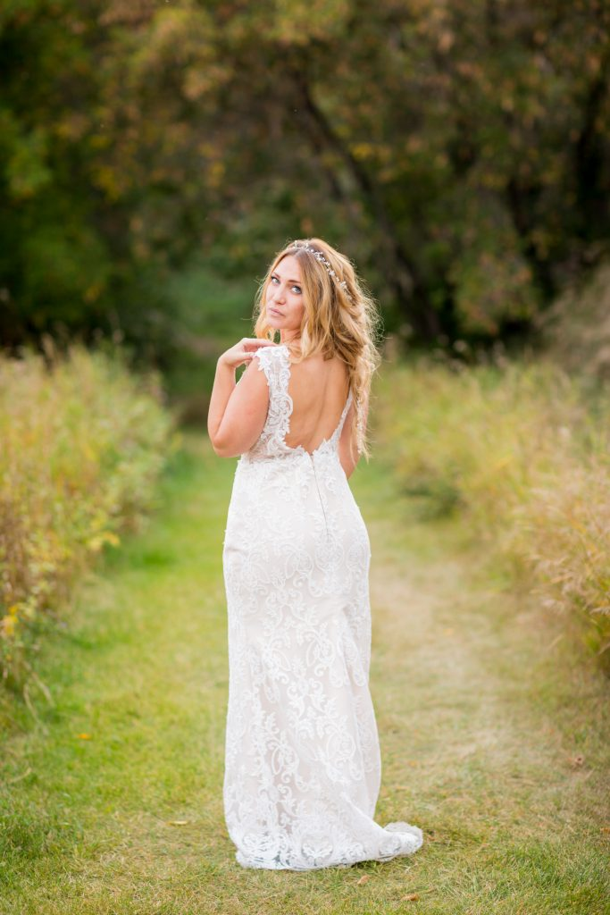 sunset bridal portrait edmonton