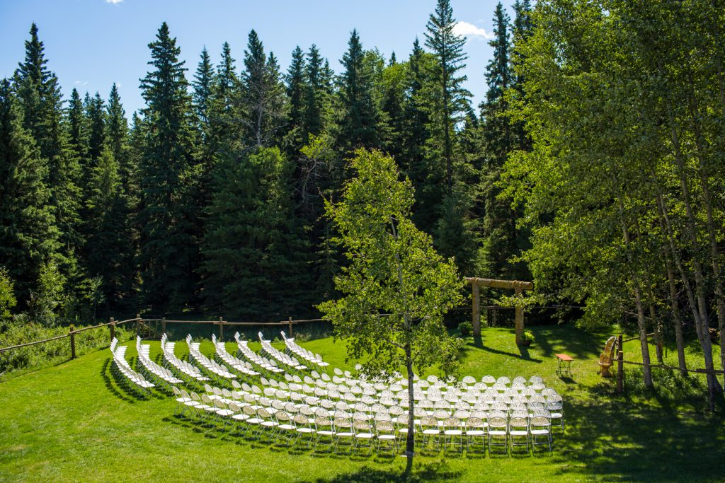 outdoor country wedding ceremony location