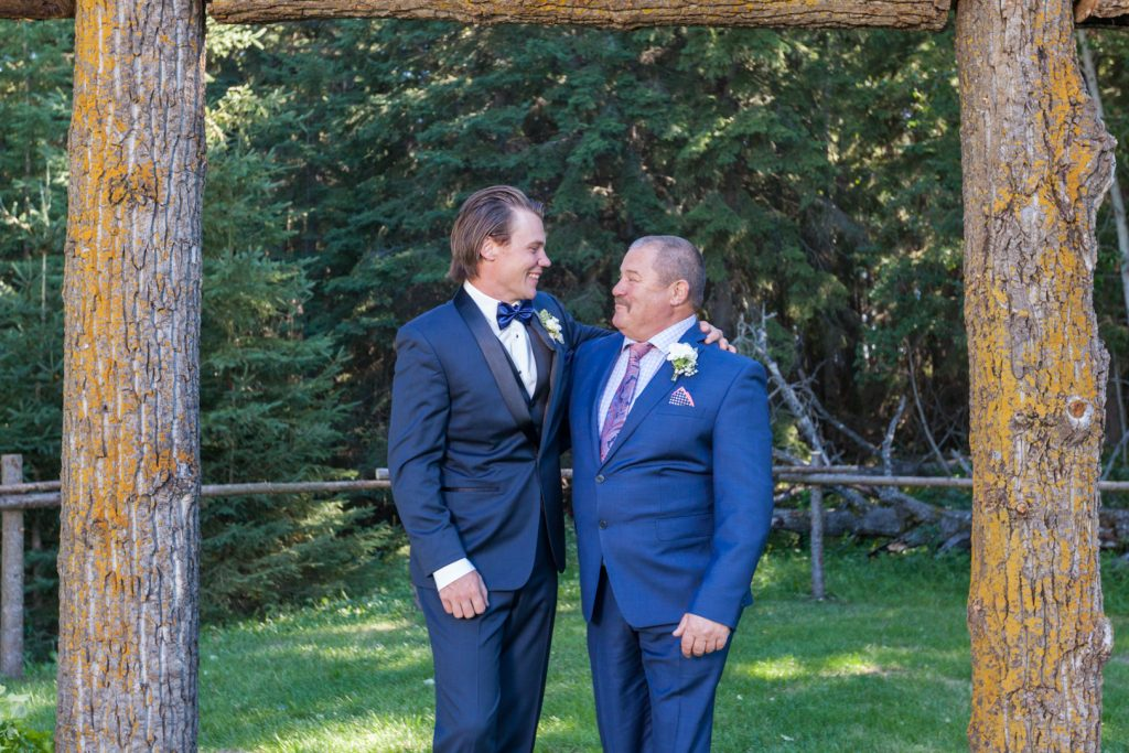 photo of the groom and his father