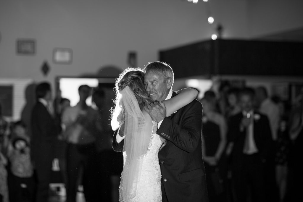 Bride dancing with her father