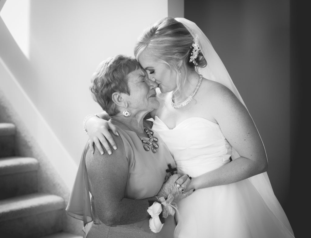 Emotional moment between bride and her mother