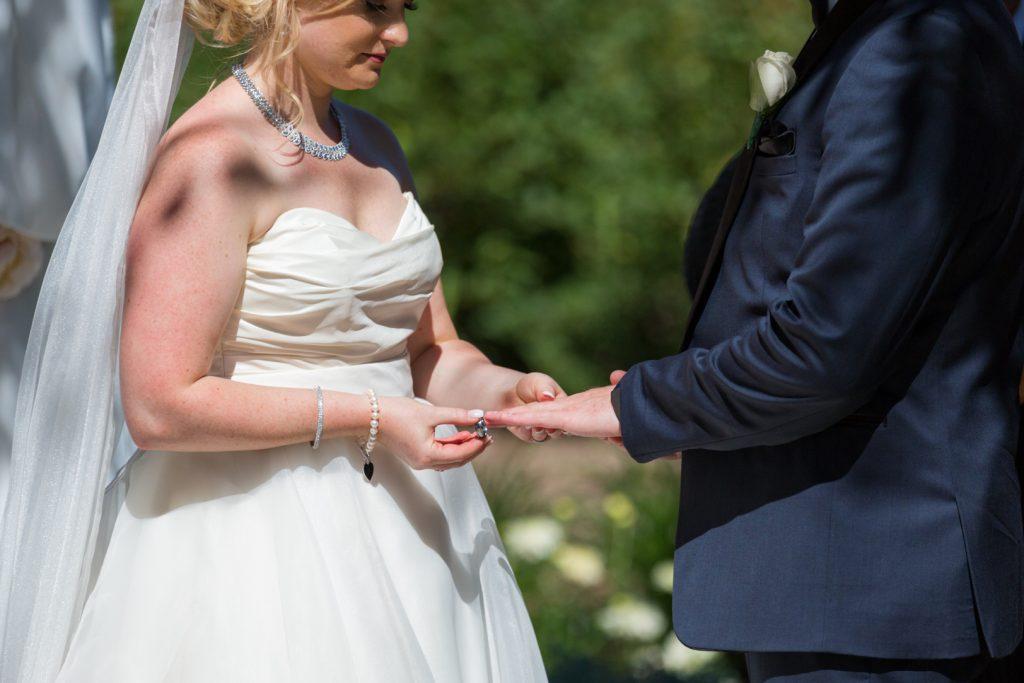 Outdoor wedding ceremony Edmonton