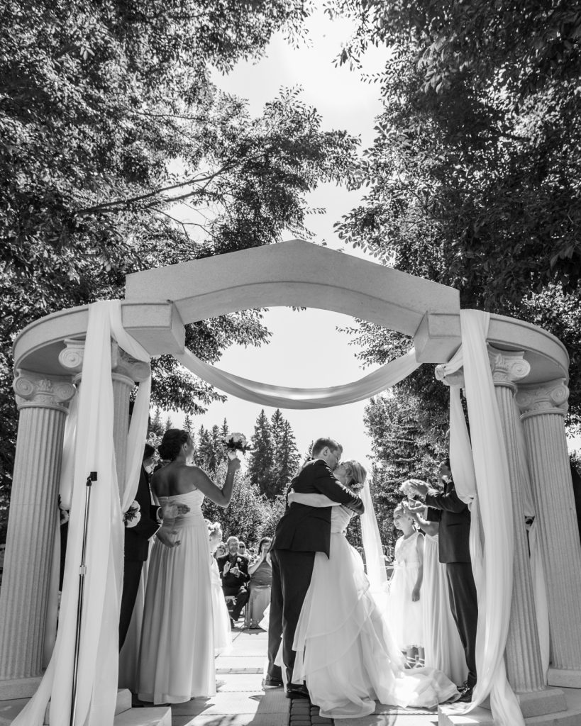 Edmonton botanic garden wedding