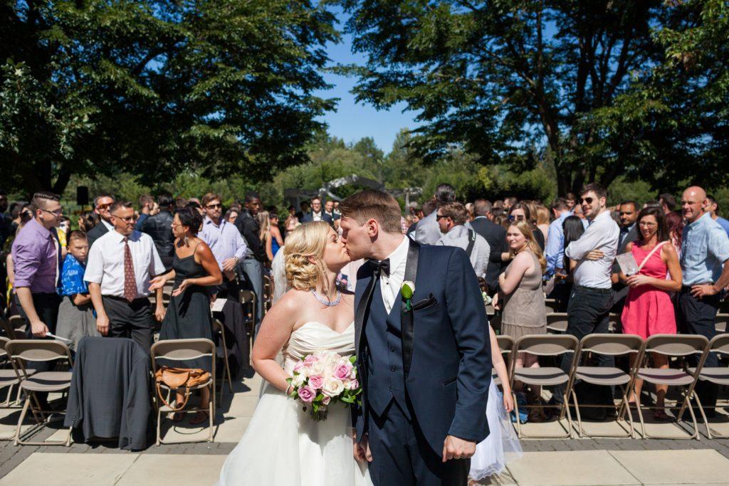 Summer outdoor wedding ceremony