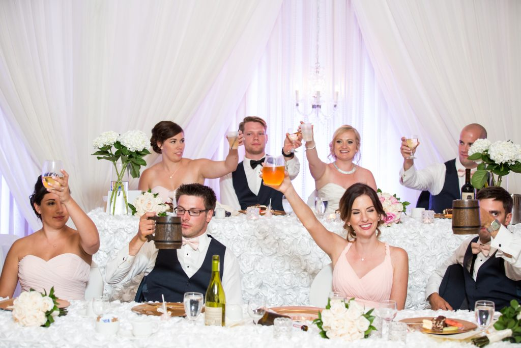 Wedding toast to the bride and groom
