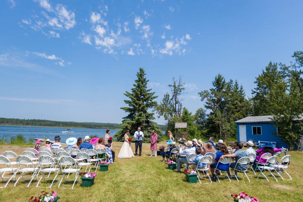 Moonlight Bay Centre outdoor summer wedding ceremony