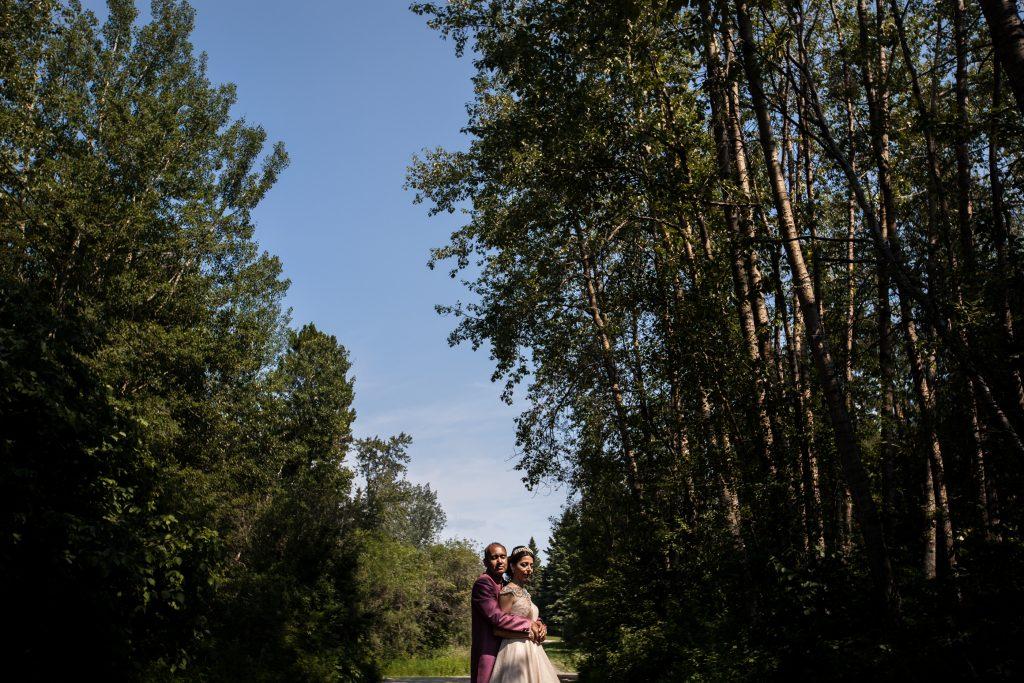 Romantic wedding portraits at Moonlight Bay Centre