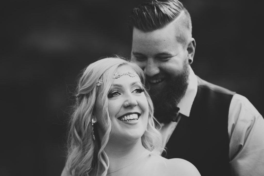 Summer wedding photos taken at Snow Valley Park