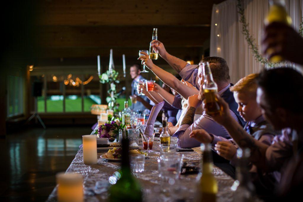 Snow Valley Lodge wedding reception