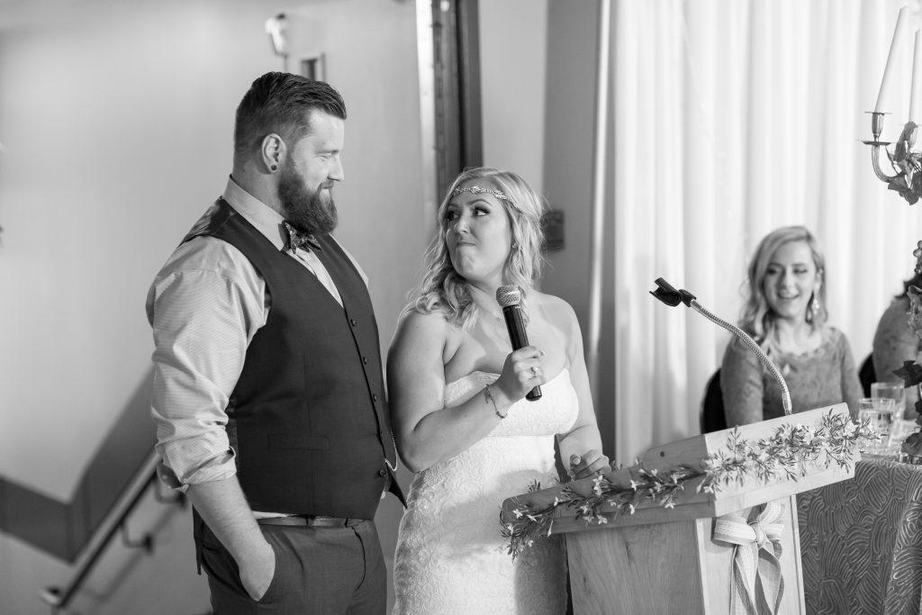 Summer wedding reception at Snow Valley Lodge in Edmonton