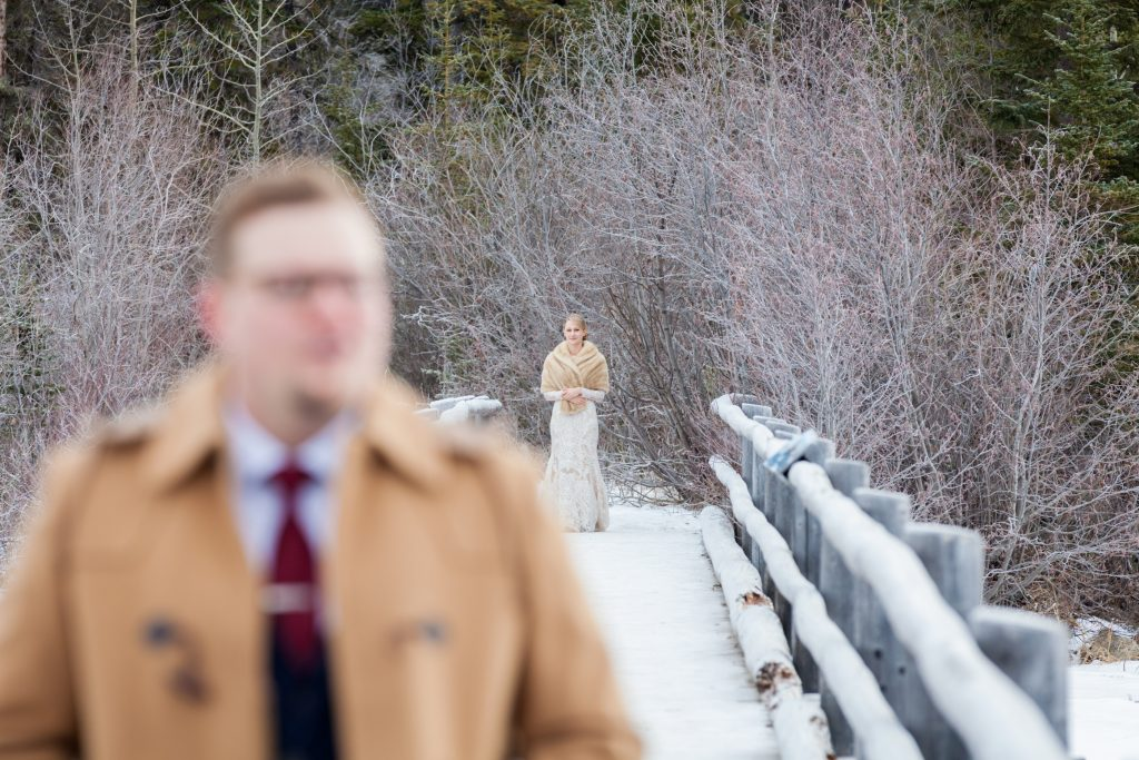 Winter wedding at Pyramid Lake