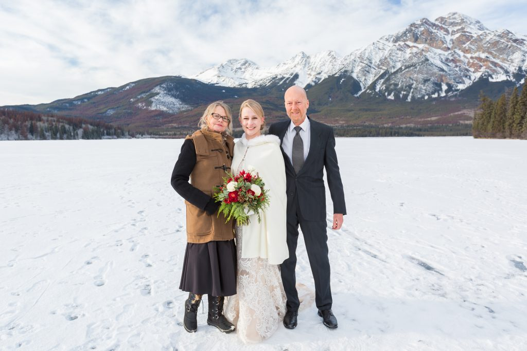 Photo of bride and her mother taken outdoors at Pyramid Lake