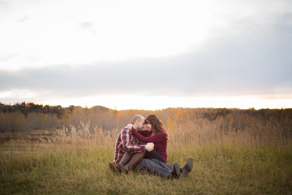 Autumn Sunset Engagement Edmonton