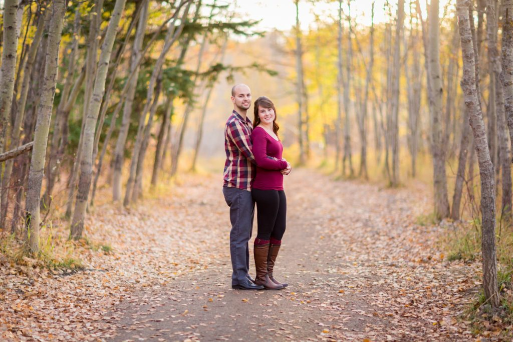 Edmonton Autumn Engagement Photos at Terwilliger Park
