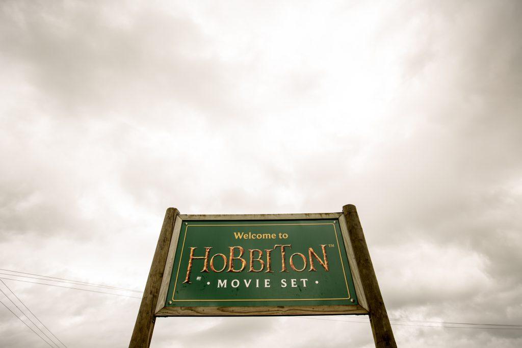 Hobbiton Movie Set Tour Sign