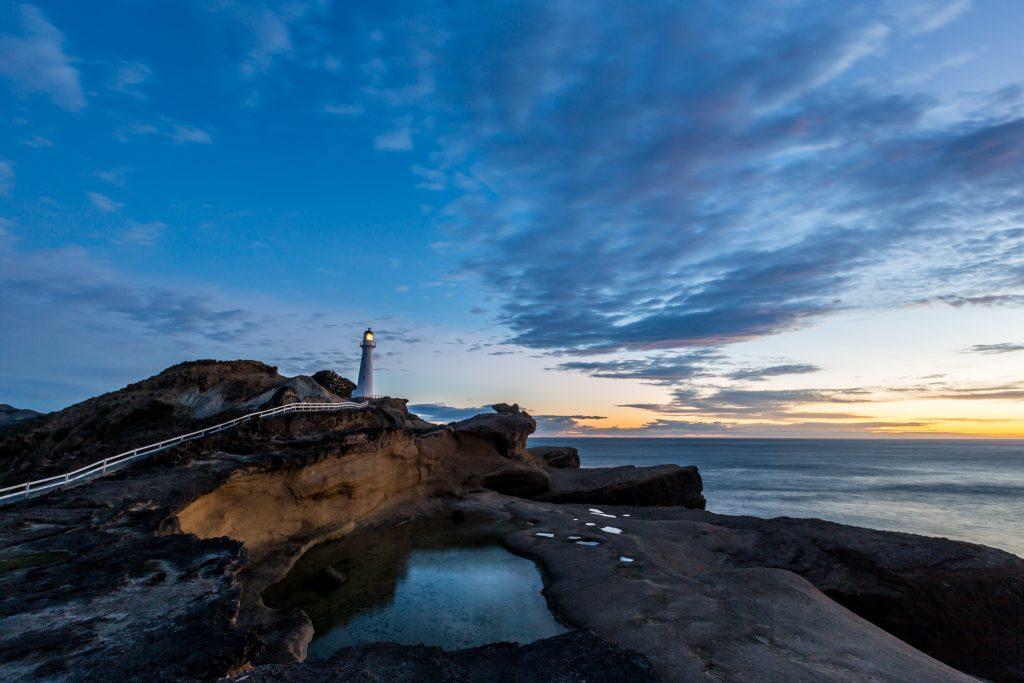 Castlepoint lighthouse at sunrise