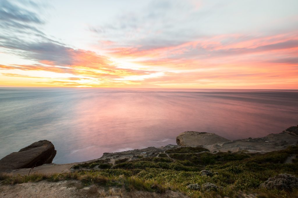 castlpoint lighthouse view sunrise