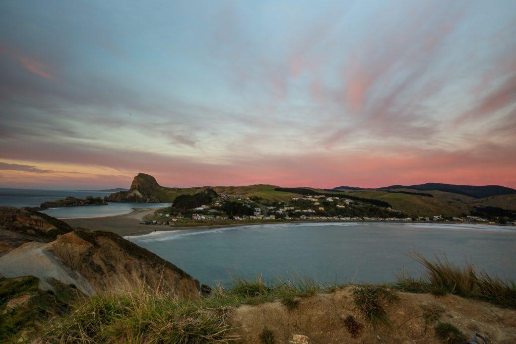Castlepoint village town sunrise picture