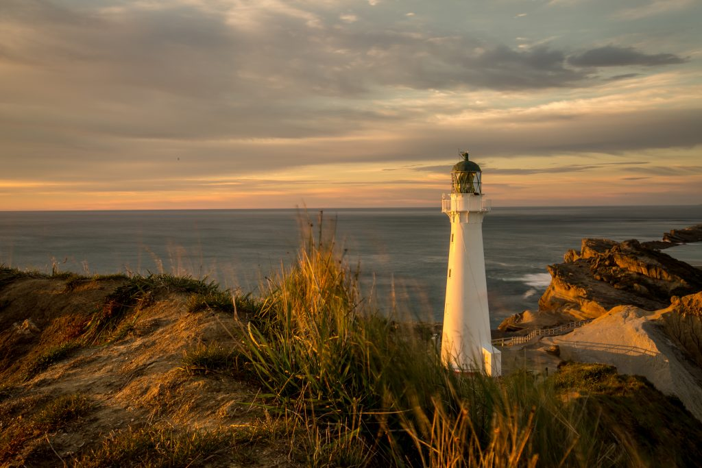 The Castlepoint Lighthouse at sunrise