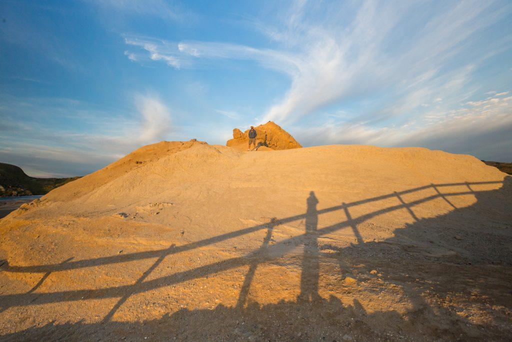 castlepoint lighthouse rocks at sunrise