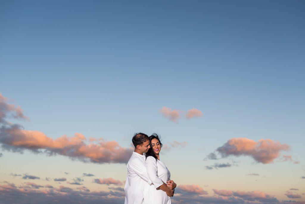 Antigua engagement photos at sunset