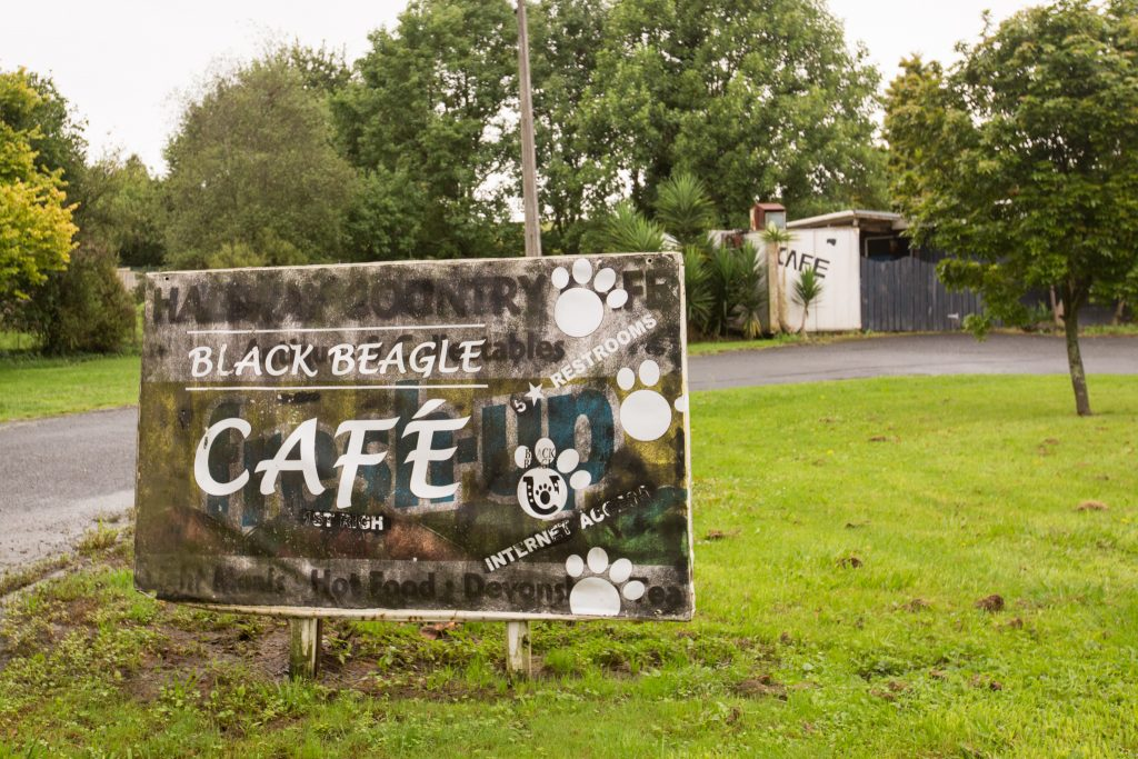 The Black Beagle Cafe While Driving the Coromandel Peninsula