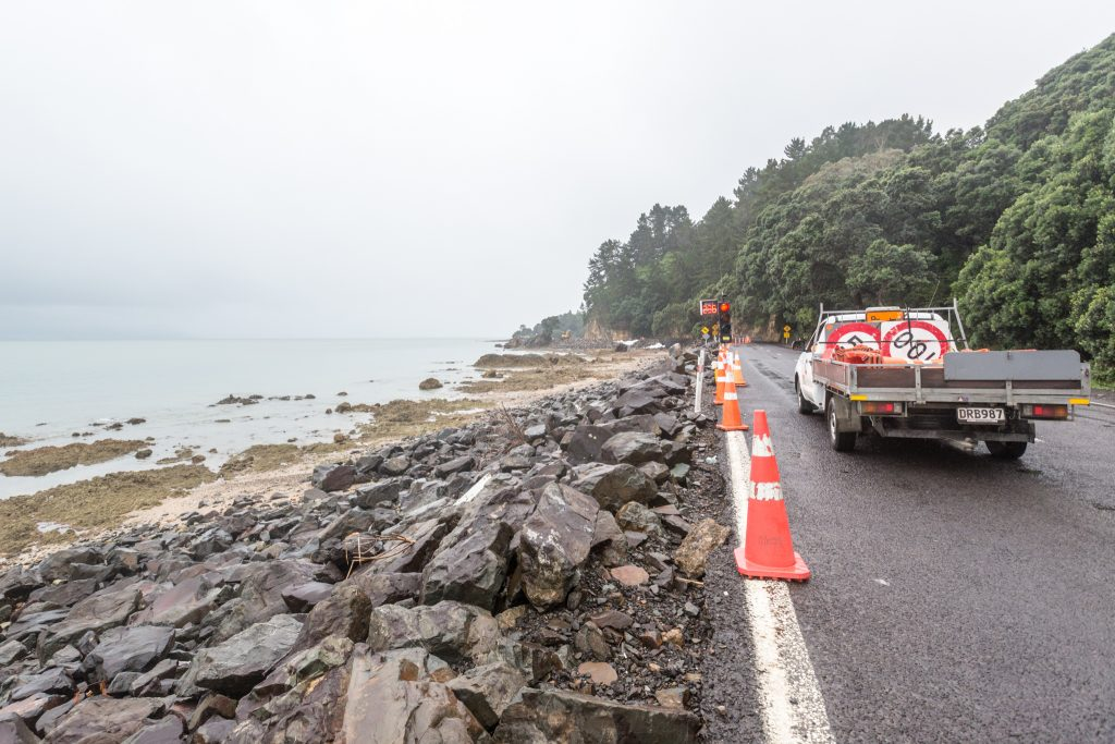 Construction While Driving the Coromandel Peninsula