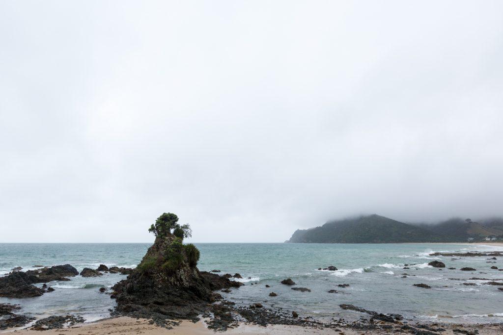 Sea Rocks While Driving the Coromandel Peninsula