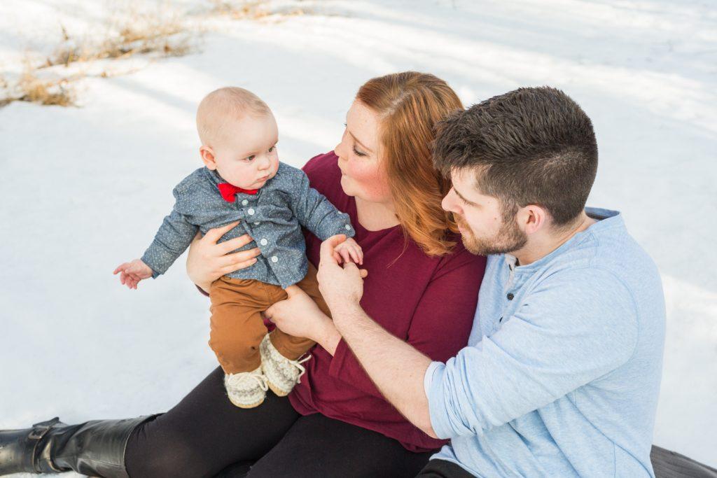 Sweet outdoor family portraits in Edmonton
