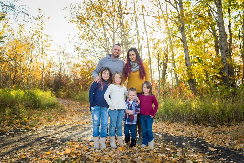 Engagement Portraits with Kids Edmonton