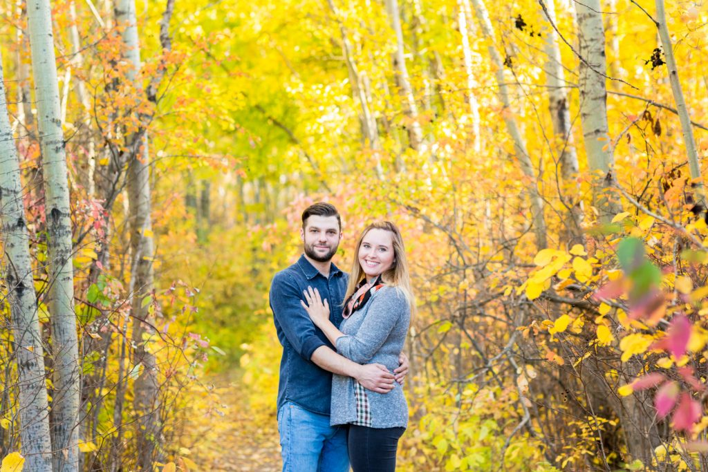 Terwilliger Park engagement photos in the autumn