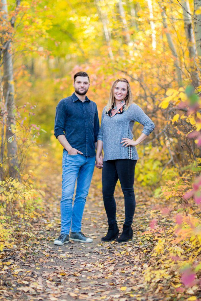Terwilliger Park engagement photos with Edmonton photographers