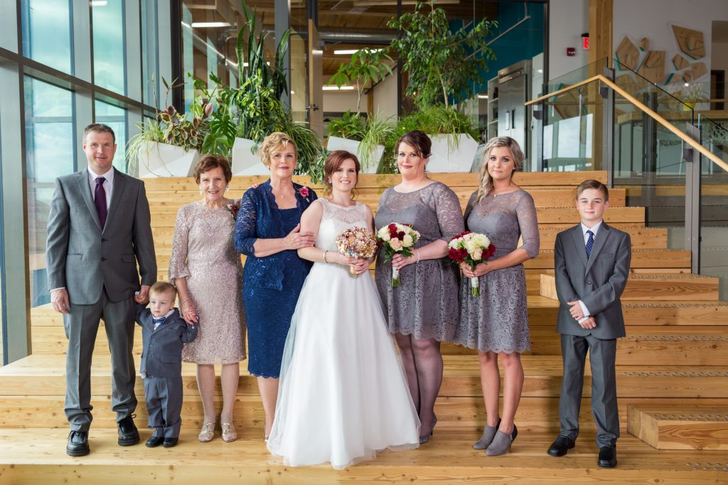 Mosaic Centre Wedding family portraits
