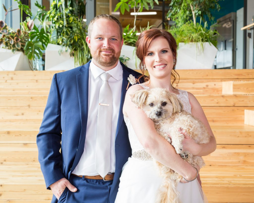 Mosaic Centre Wedding portraits with dog